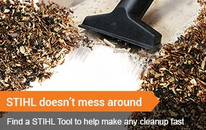 Find a STIHL Tool that makes cleanup easier!